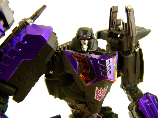 dark megatron takara tomy transformers united dark side optimus prime vs