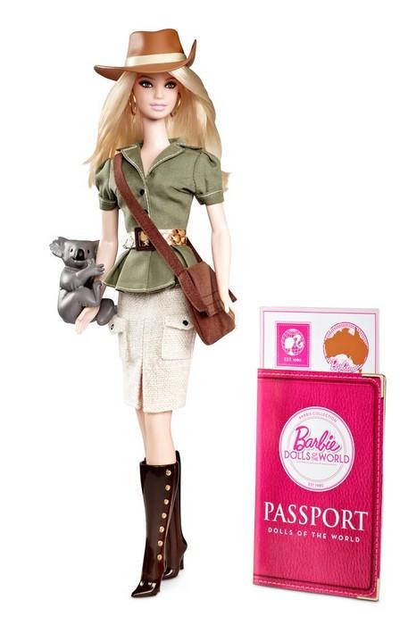 2012 Barbie Dolls Of The World Australia China Argentina