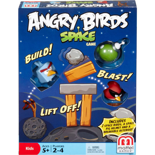 Angry Birds Space Toys : Mattel games angry birds in space block game