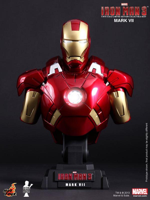 Hottoys Ironman 3 Mark 7 Bust 02