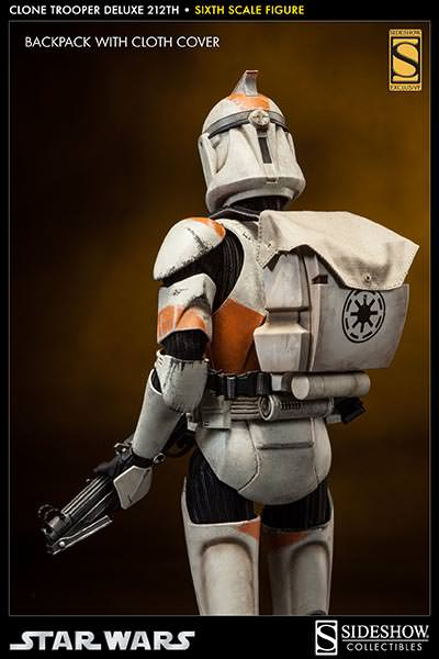 sideshow star wars 16th scale clone trooper deluxe 212th
