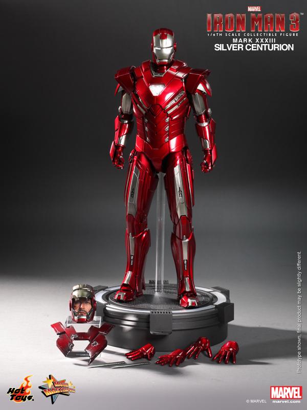Hot Toys - Iron Man 3 - Silver Centurion Collectible Figurine 14