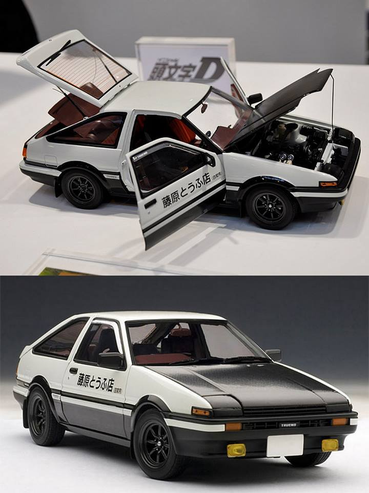 autoart 1 18 scale toyota sprinter trueno ae86 initial d project d version toywiz and toy. Black Bedroom Furniture Sets. Home Design Ideas