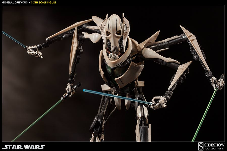 Star Wars General Grievous Toys : Sideshow toy th scale star wars general grievous