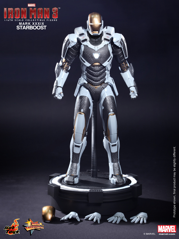 Hot Toys - Iron Man 3 - Starboost (Mark XXXIX) Collectible Figure 15