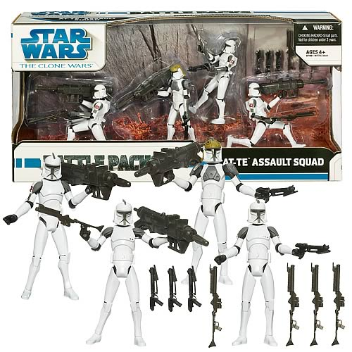 Star Wars Clone Wars AT-TE Assault Squad Battle Pack