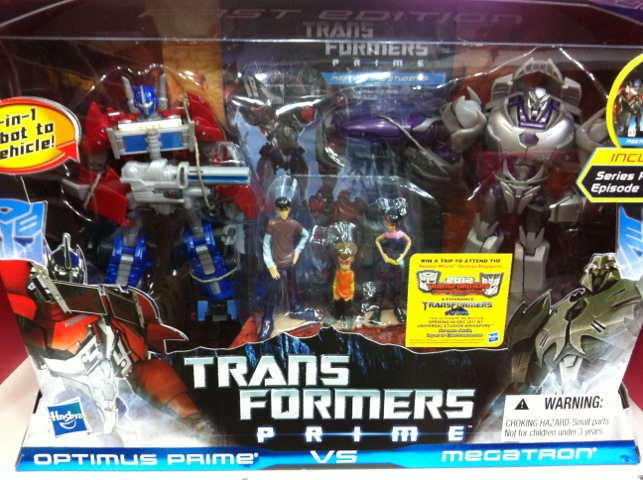 Transformers Prime Optimus Prime VS Megatron Pack