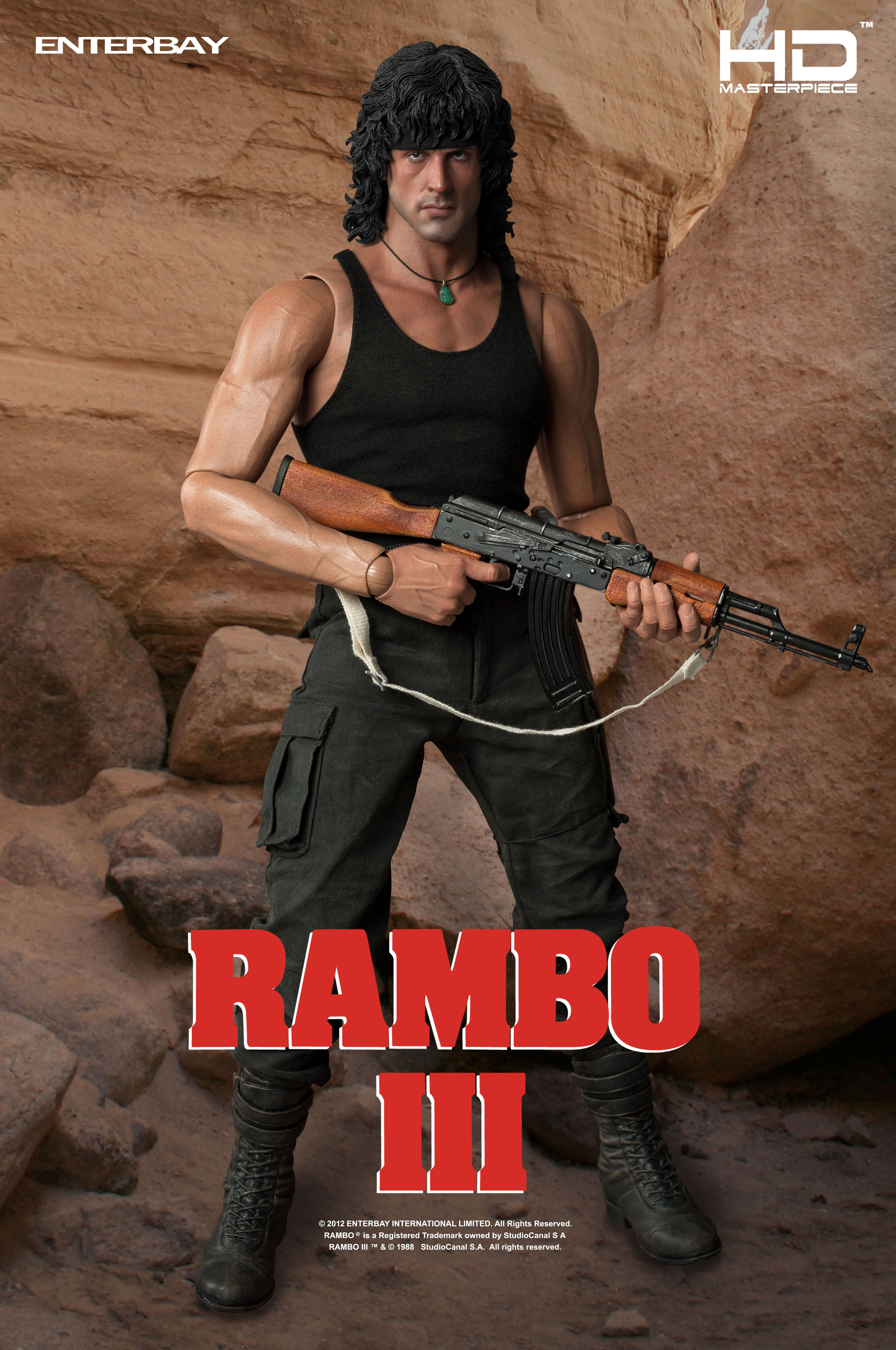 Enterbay 1/4th Scale HD Masterpiece Rambo III Collectible