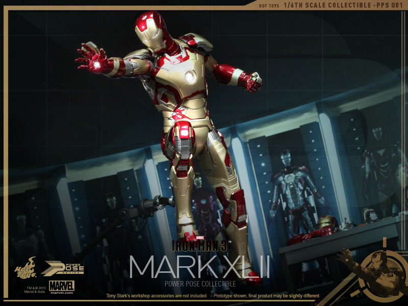 Hot Toys - Iron Man 3 - Power Pose Mark XLII Collectible Figurine_PR4