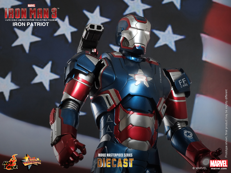 Hot Toys - Iron Man 3 - Iron Patriot Limited Edition Collectible Figurine 08