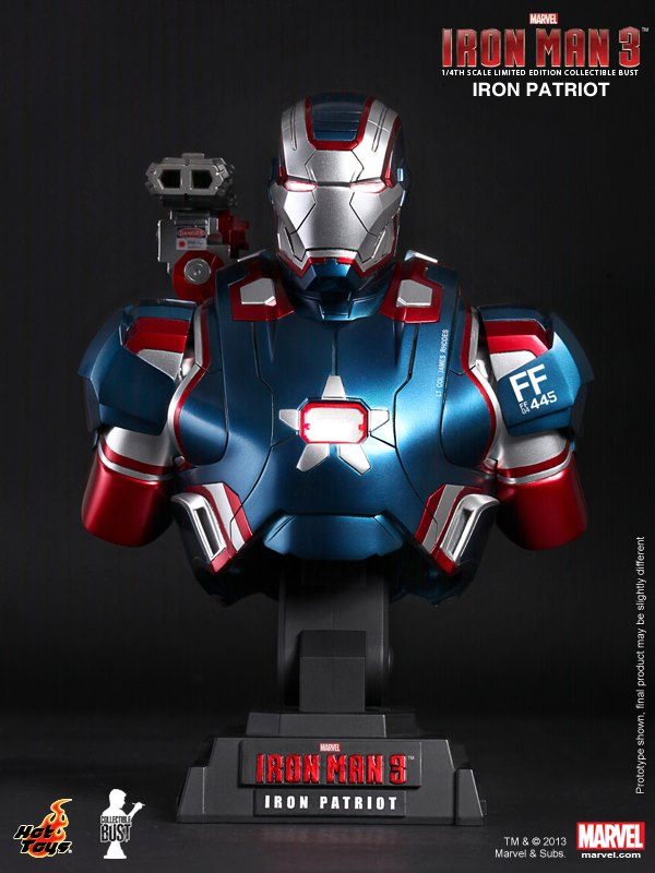 Hottoys Ironman 3 Iron Patriot Bust 01