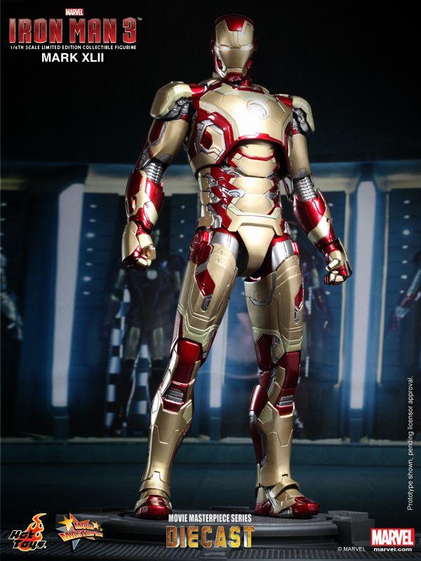 Hot Toys - Iron Man 3 - Mark XLII Limited Edition Collectible Figurine_PR1