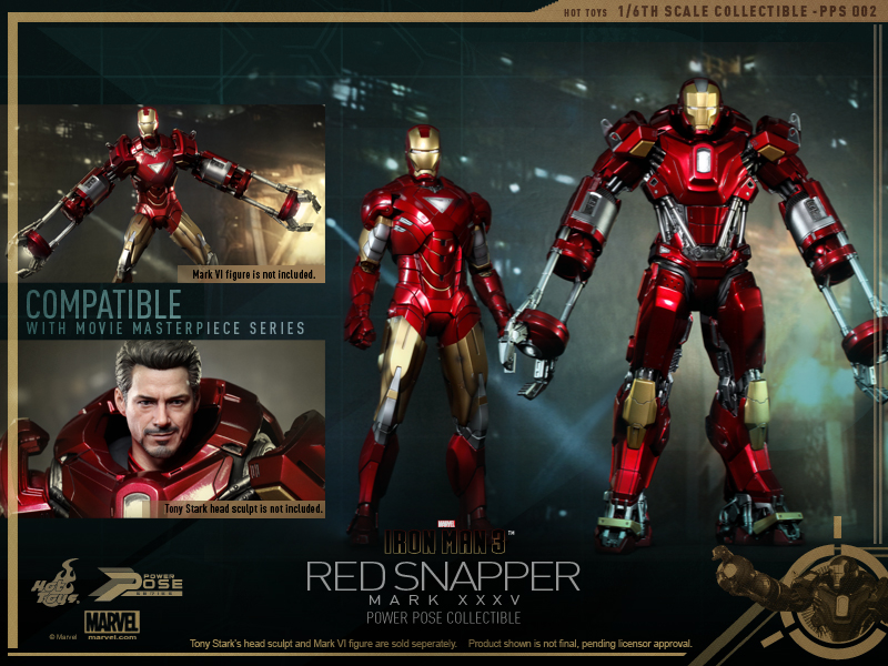 Hot Toys - Iron Man 3 - Power Pose Red Snapper Collectible Figurine_14