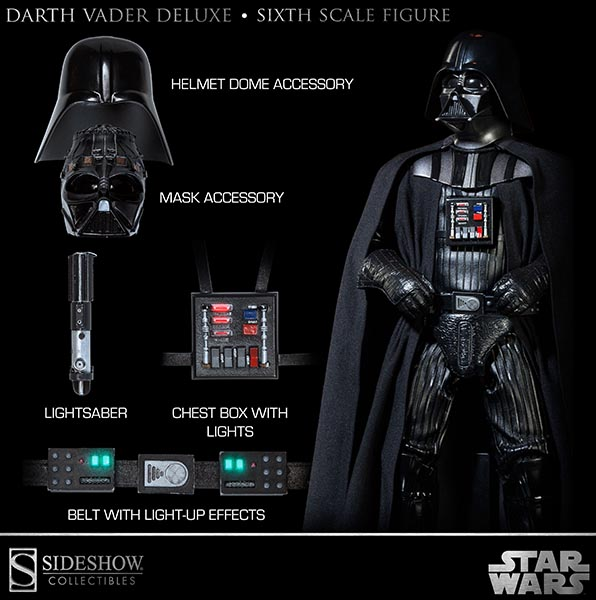 sideshow darth vader deluxe 12