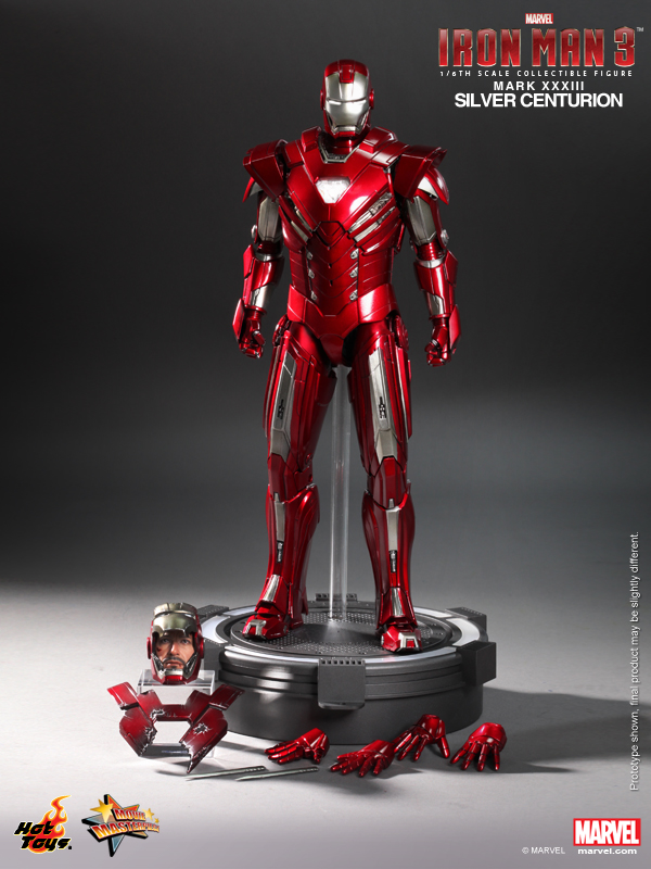 Hot Toys - Iron Man 3 - Silver Centurion Collectible Figurine 14