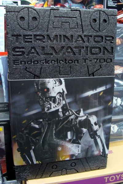 Hot Toys Terminator Salvation Endoskeleton T-700 Front Box View